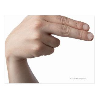 American Sign Language 4 Postcard