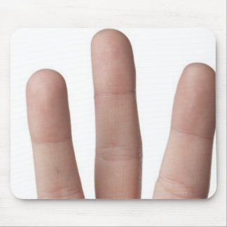 American Sign Language 6 Mouse Pad