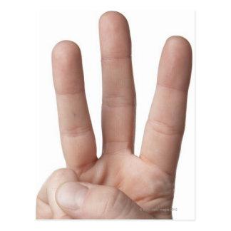 American Sign Language 6 Postcard