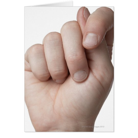 American Sign Language 9 Card