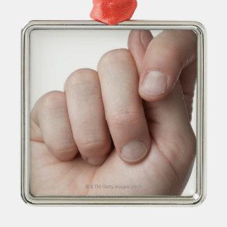 American Sign Language 9 Metal Ornament