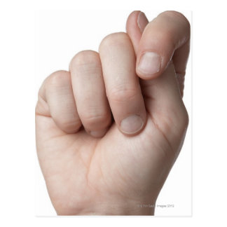 American Sign Language 9 Postcard