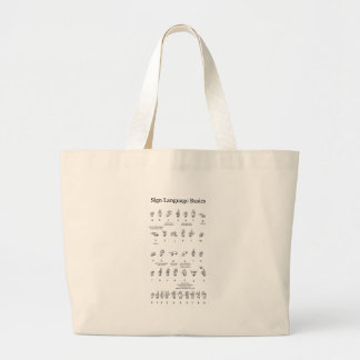 American Sign Language Alphabet and Numbers Tote Bag