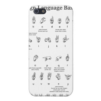 American Sign Language Alphabet and Numbers iPhone 5 Case