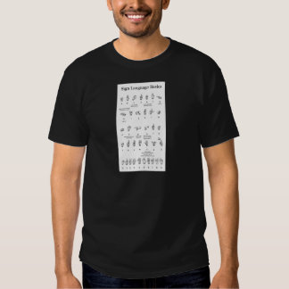 American Sign Language Alphabet and Numbers T-Shirt