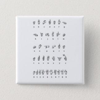 American Sign Language (ASL) Pinback Button