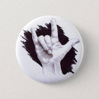 AMERICAN SIGN LANGUAGE I LOVE YOU BUTTON
