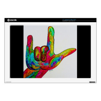 American Sign Language I LOVE YOU Decal For Laptop