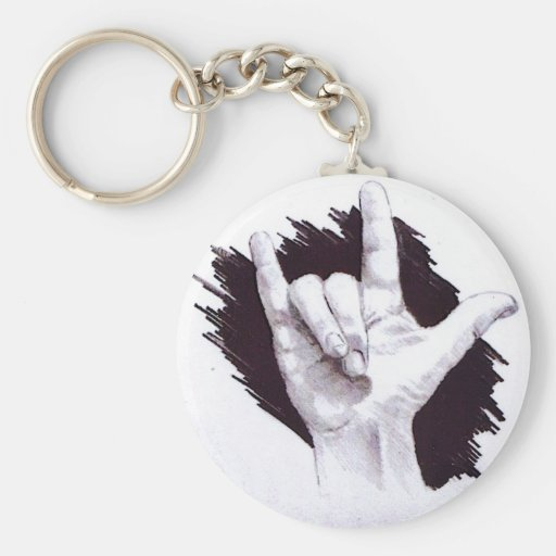 AMERICAN SIGN LANGUAGE I LOVE YOU KEYCHAIN