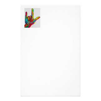 American Sign Language I LOVE YOU Stationery