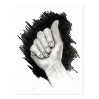 AMERICAN SIGN LANGUAGE: LETTER A POSTCARD