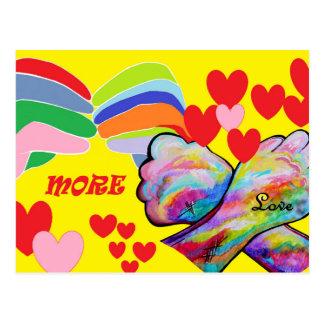 American Sign Language MORE LOVE Postcard