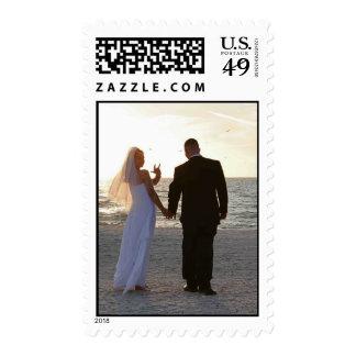 "American Sign Language Wedding ""ILY"" Postage Stamp"