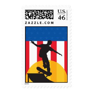 American Skateboard Stamp