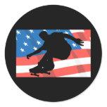 American Skateboarder Classic Round Sticker