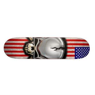 American Skull Flag Skateboard