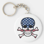 American Skull Keychains