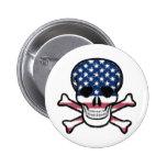 American Skull Pin