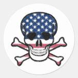 American Skull Sticker