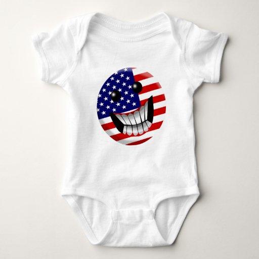 american smile baby bodysuit