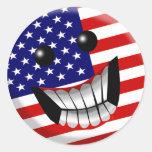 american smile sticker