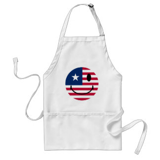 American Smiley Adult Apron
