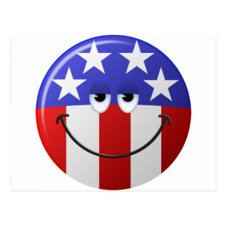 American Smiley Face Postcard
