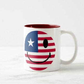 American Smiley Two-Tone Coffee Mug