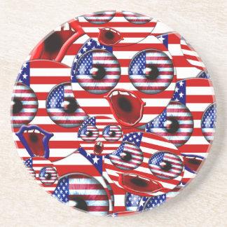 american smileys drink coaster