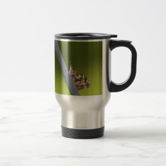 American Snout Butterfly on Green Background Travel Mug