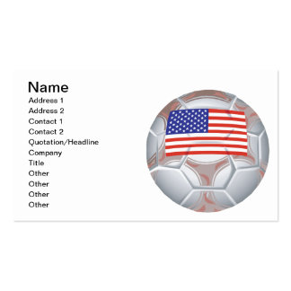 American Soccer Ball Double-Sided Standard Business Cards (Pack Of 100)