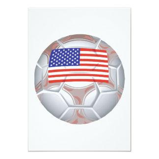 American Soccer Ball Personalized Invitation