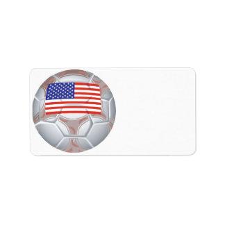 American Soccer Ball Address Label