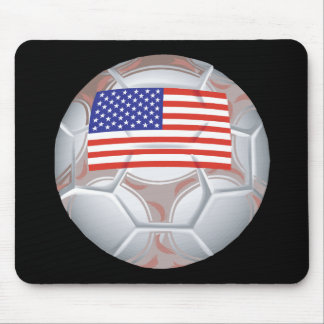 American Soccer Ball Mouse Pad