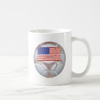 American Soccer Ball Classic White Coffee Mug