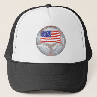 American Soccer Ball Trucker Hat