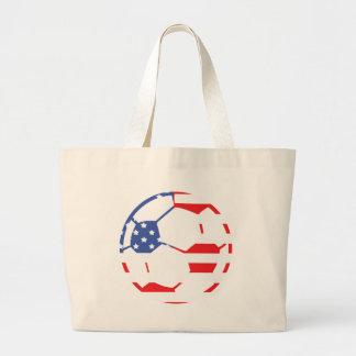 american soccer icon canvas bag