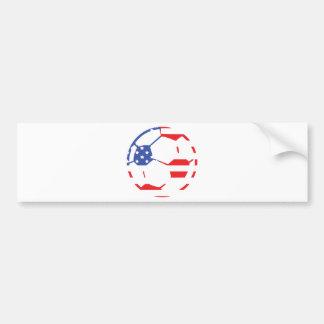 american soccer icon bumper sticker