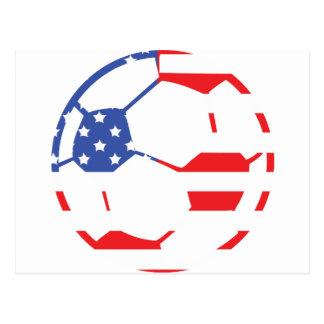 american soccer icon postcard