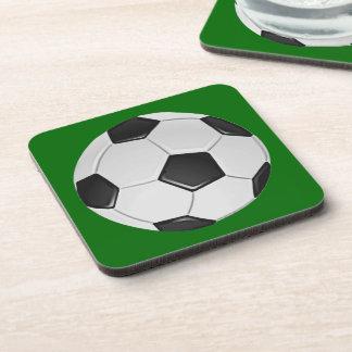 American Soccer or Association Football Ball Beverage Coaster