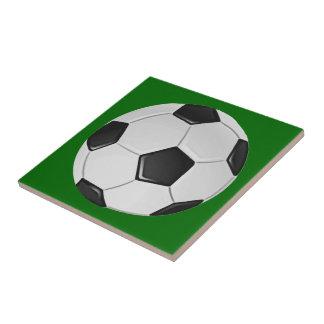 American Soccer or Association Football Ball Ceramic Tile