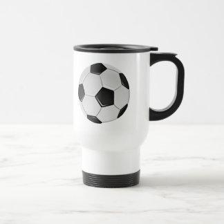 American Soccer or Association Football Ball Travel Mug
