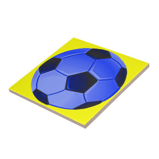 American Soccer or Association Football Ceramic Tile