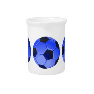 American Soccer or Association Football Beverage Pitcher