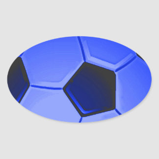 American Soccer or Association Football Oval Stickers