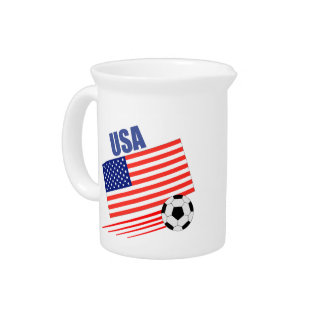 American Soccer Team Drink Pitchers