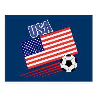 American Soccer Team Postcard