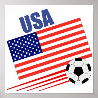 American Soccer Team Poster