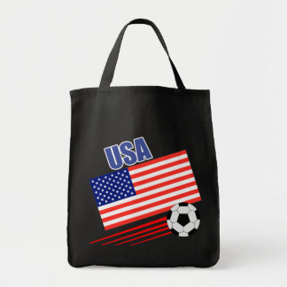 American Soccer Team Tote Bag