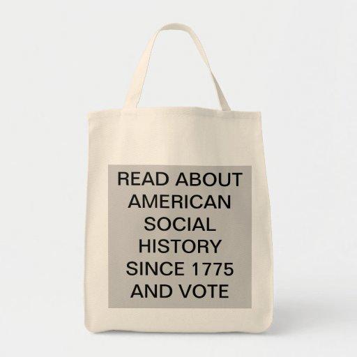 AMERICAN SOCIAL HISTORY GROCERY TOTE BAG